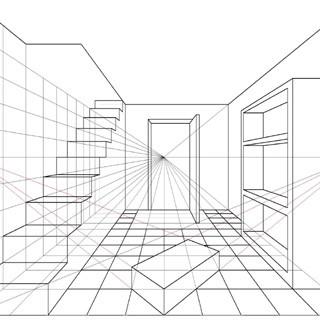 Perspectieftekenen nia academie for Cursus 3d tekenen interieur